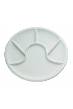Küchenprofi, Fonduetallerken hvit 25 cm