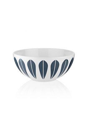 Hvit skål m/blått mønster 12cm