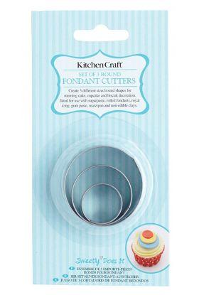 KitchenCraft, utstikkersett rund 3 pk