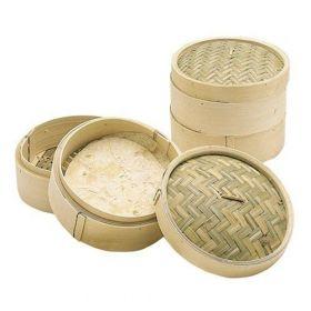 KitchenCraft Bambus steamer m/lokk 20 cm