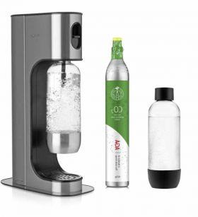 AGA Exclusive Black m/2 vannflasker og m/1 kullsyreflaske