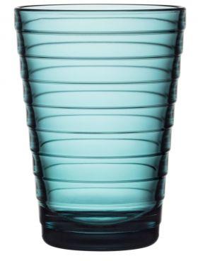 Iittala Aino Aalto vannglass sjøblå 33cl