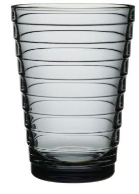 Iittala Aino Aalto vannglass grå 33cl