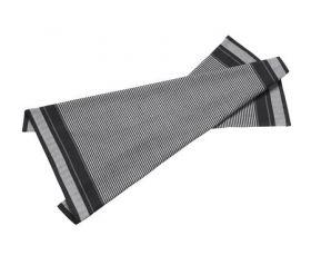 Bastian Jumbo kjøkkenhåndkle striper sort/natur 80x60 cm