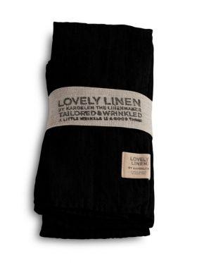 LOVELY LINEN SERVIETT BLACK 45X45 CM