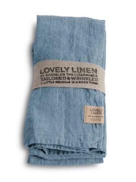 LOVELY LINEN SERVIETT DUSTY BLUE 45X45 CM