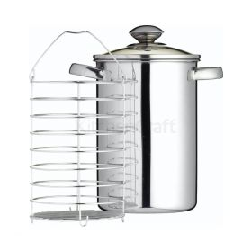 Kitchen Craft aspargesgryte og maisgryte m/kurv 3L