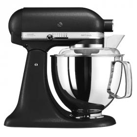 KitchenAid Artisan kjøkkenmaskin 4,8 L + 3 L Rustikk Sort, 300 watt