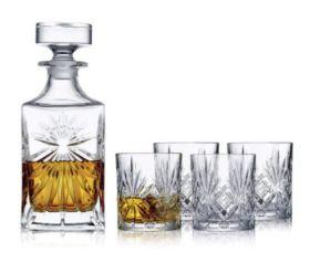 Lyngby Melodia Whiskeysett 4 glass 34 cl/karaffel 0,85 l