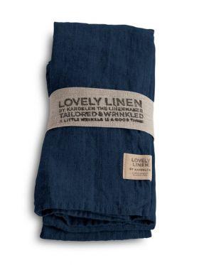 LOVELY LINEN SERVIETT DENIM BLUE 45X45 CM