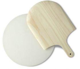 Funktion Pizzastein m/spade Ø37,5cm