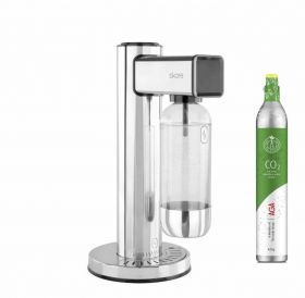 AGA Skare Porla Chrome m/1 vannflaske, 1 kullsyreflaske og 1 kullsyrepatron
