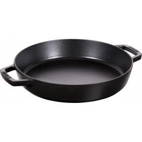 Staub Sautépanne u/lokk Ø34 cm svart