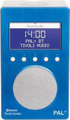 Tivoli Audio Pal + BT radio blå/hvit 9,9x12x20 cm