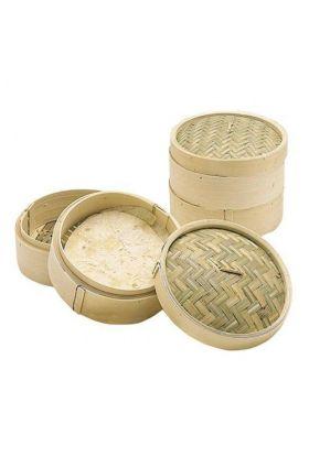 KitchenCraft Bambussteamer m/lokk 25 cm