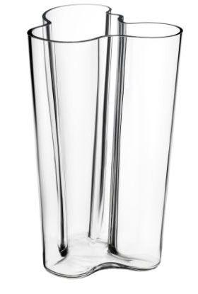 IITTALA AALTO VASE KLART GLASS 251 MM