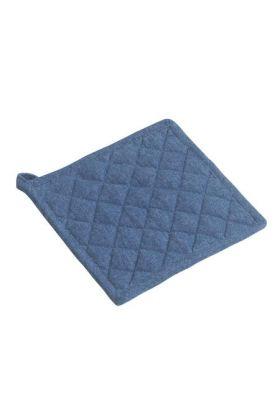 Bastian gryteklut blå denim 22,5x22 cm
