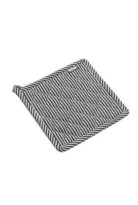 Bastian Jumbo gryteklut striper sort/natur striper 22,5x22,5 cm