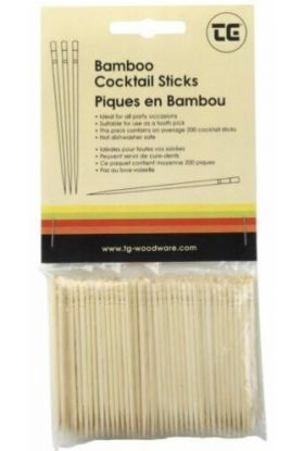 T&G Cocktailpinner bambus 200 stk