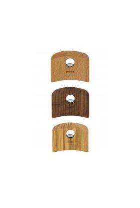 Cristel avtagbare håndtak i rustfritt stål/bøk tilhørende grytene og pannene