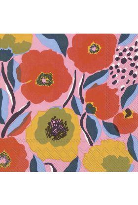 Marimekko Rosarium Rose Servietter 20pk
