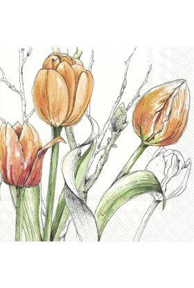 Ihr Tulipan servietter 20 pk