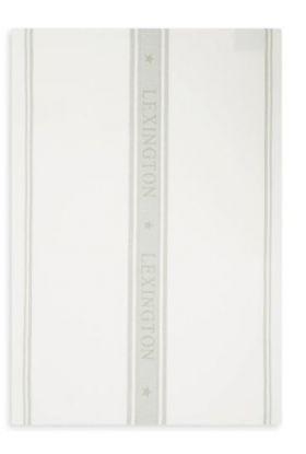Lexington Icons Kjøkkenhåndkle hvit/salviegrønn 50x70 cm