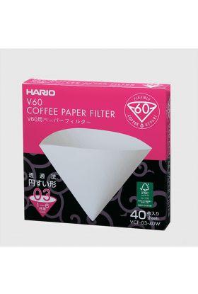 Hario V60 Papirfilter 03/40 stk