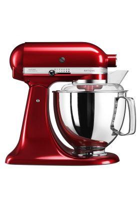 KitchenAid Artisan kjøkkenmaskin 4,8 L + 3 L Rød Metallic