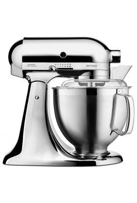 KitchenAid Artisan kjøkkenmaskin 4,8 L + 3 L krom, 300 watt