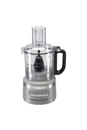 KitchenAid, 7 Cup foodprocessor matt grå - 1,7 l