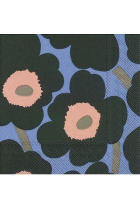 Marimekko Unikko blå servietter 20pk