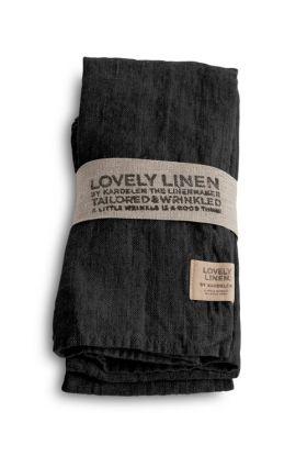 LOVELY LINEN SERVIETT DARK GREY 45X45 CM