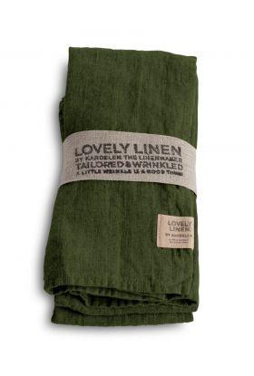 LOVELY LINEN SERVIETT JEEP GREEN 45X45 CM