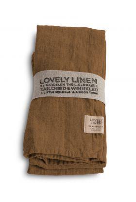 LOVELY LINEN SERVIETT ALMOND 45X45 CM