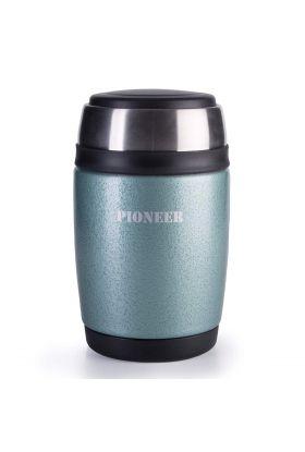 Pioneer mattermos m/skje grønn 0,48 l