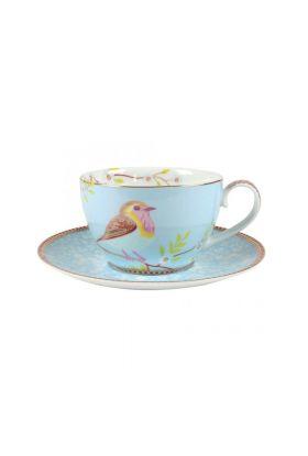 Early bird kopp og skål blå