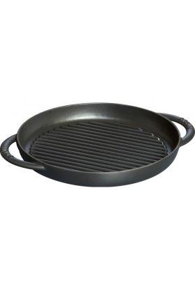 Staub grillpanne rund Ø26 cm svart