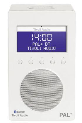 Tivoli Audio Pal + BT radio hvit/hvit 9,9x12x20 cm
