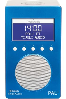 Tivoli Audio Pal + BT radio blå/hvit 9,9x12x20 cm