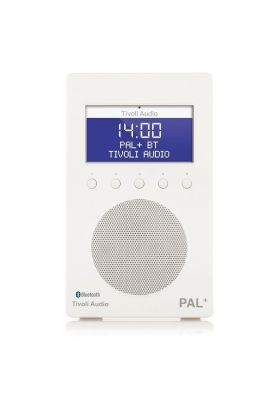Tivoli Audio Pal + BT radio hvit/hvit 9,9x12x20 cm