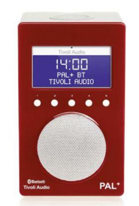 Tivoli Audio Pal + BT radio rød/hvit 9,9x12x20 cm