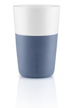 Caffé Latte-krus, 2 stk moonlight blue
