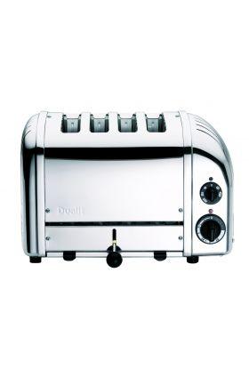 Toaster, New Gen 4 skiver, krom