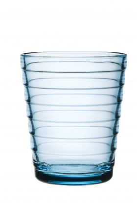AINO AALTO GLASS LYSEBLÅ 2PK 22CL