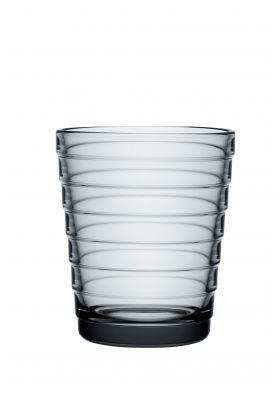 AINO AALTO GLASS GRÅ 2PK 22CL