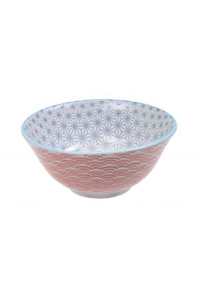 Star/Wave Tayo Bowl 15x6.5cm Gr/Rd