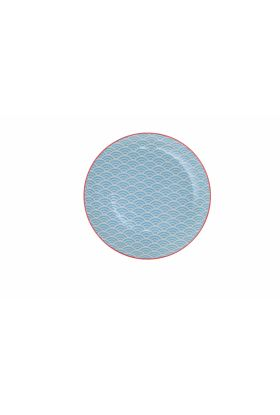 Star/Wave Plate 20.6x2.6cm Aqua